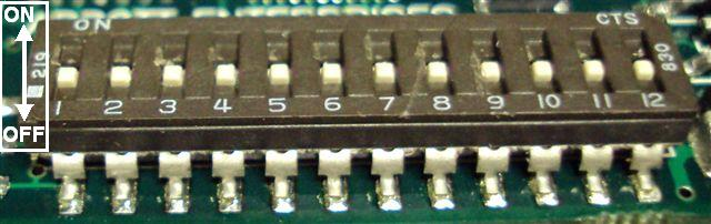 Cable-X switch with all switches in the 'off' position