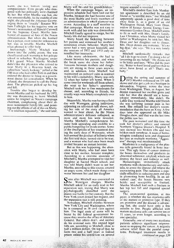 Martha Mitchell's Fight for Life Page 2