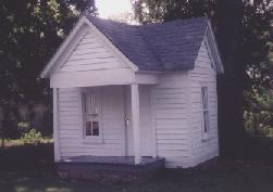 Martha's childhood playhouse